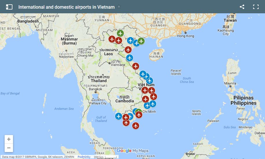 International and domestic airports in vietnam map click here and you will see this map in google maps gumiabroncs
