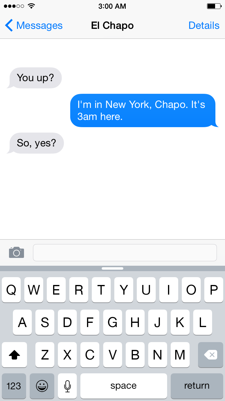 El Chapo's Texts With Samantha Bee