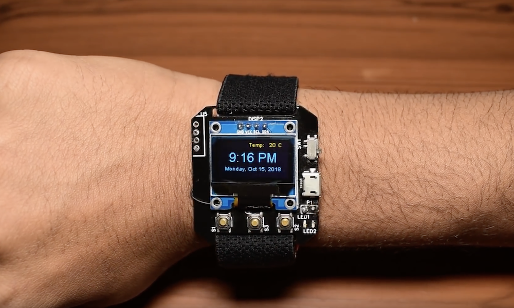 Homemade Smartwatch Features Beautifully Simple Interface