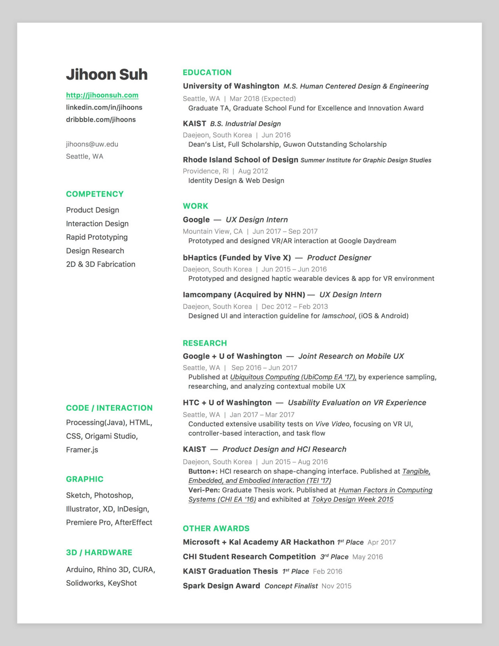 10 Amazing Designer Resumes that Passed Google\'s Bar