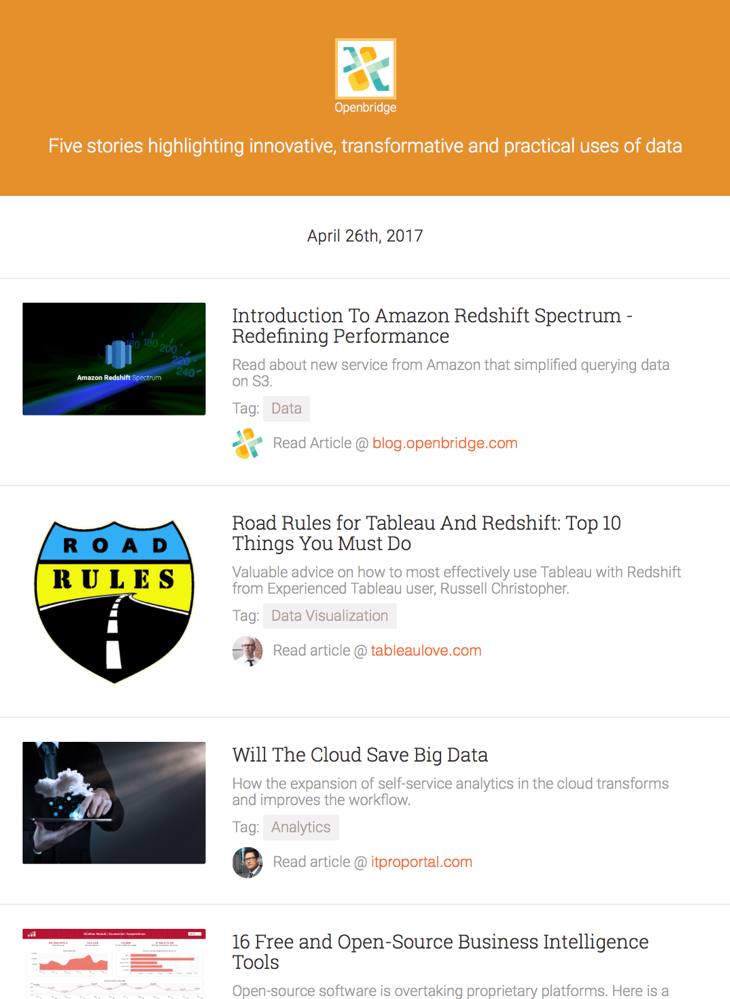 get the best free newsletter spotlighting top 5 data innovation stories