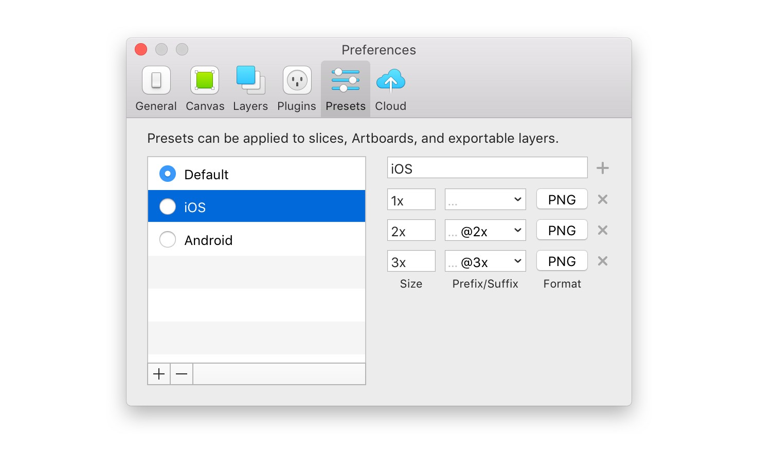 New Presets Feature in Sketch app