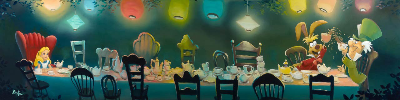 A Mad Tea Party by artist Rob Kaz, limited edition of 195