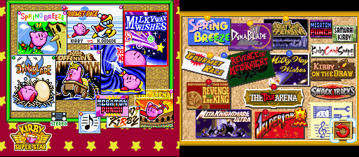 The retrospective collective kirby super star tristan jung medium kirby super star on the left kirby super star ultra on the right publicscrutiny Image collections