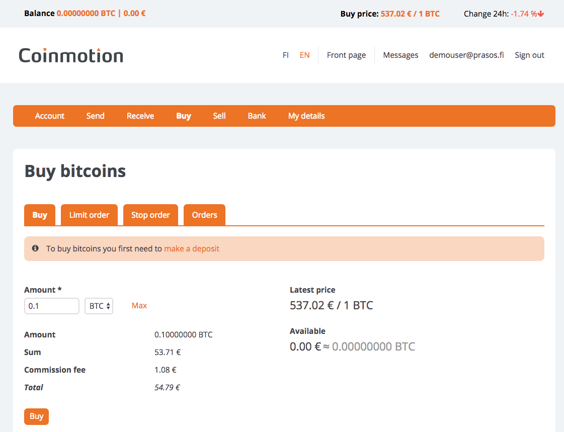 You Have Bought Some Bitcoin From The Send Page You Can Send Bitcoin To  Other Bitcoin Addresses On The Receive Page You Can View Your Bitcoin  Addresses