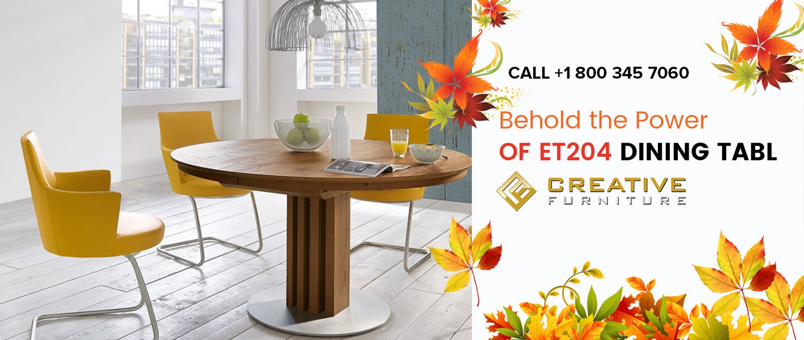 ET204 Round Dining Room Table