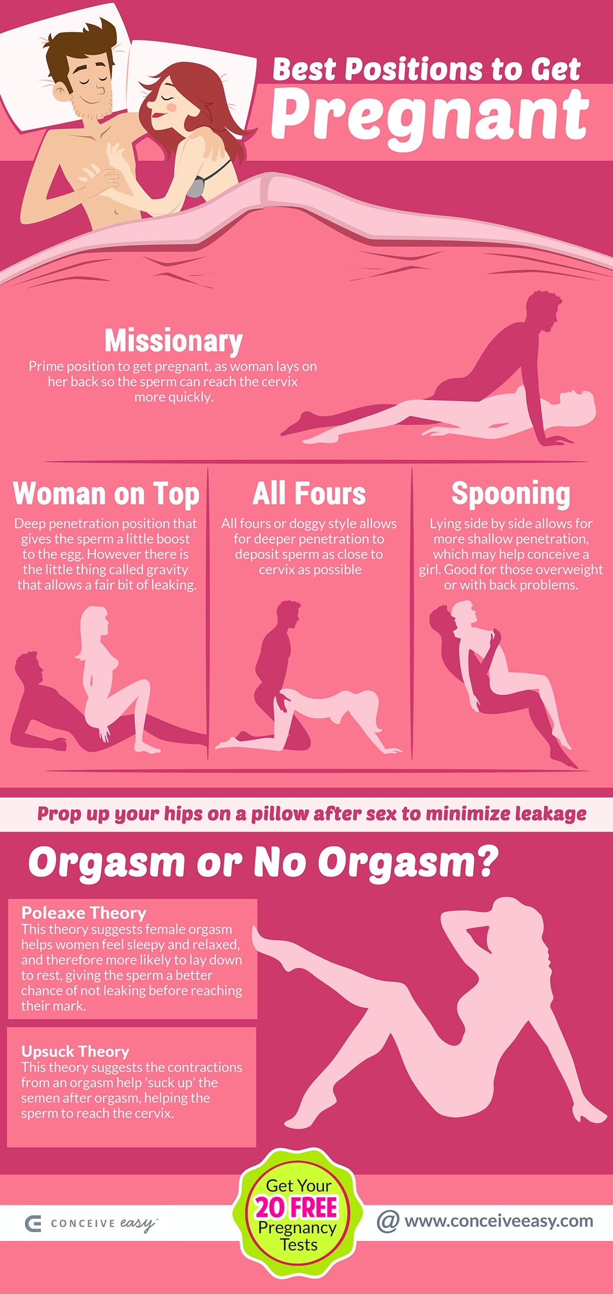 Best Positions To Get Pregnant Infographic  Conceive Easy -4332