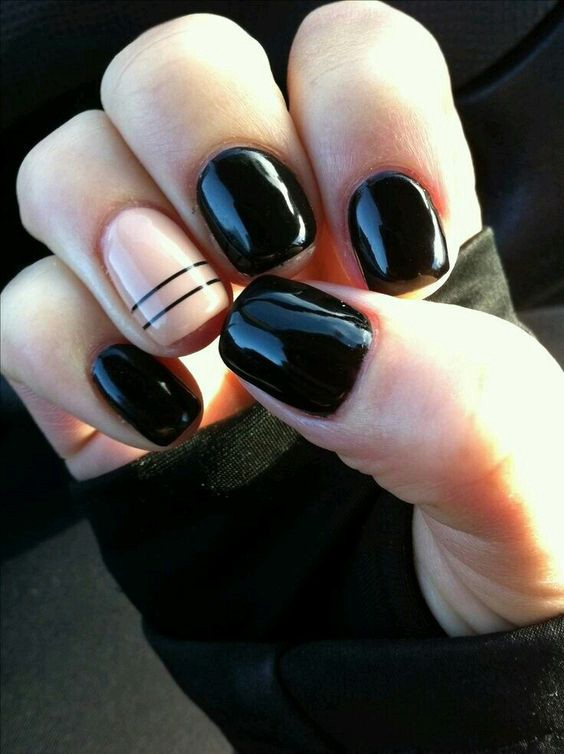 You nailed it nail art for days thread by zalora philippines the basic black nail polish with minimalist lines is one of our faves you dont really need that much effort in details just a simple line across the nail prinsesfo Images