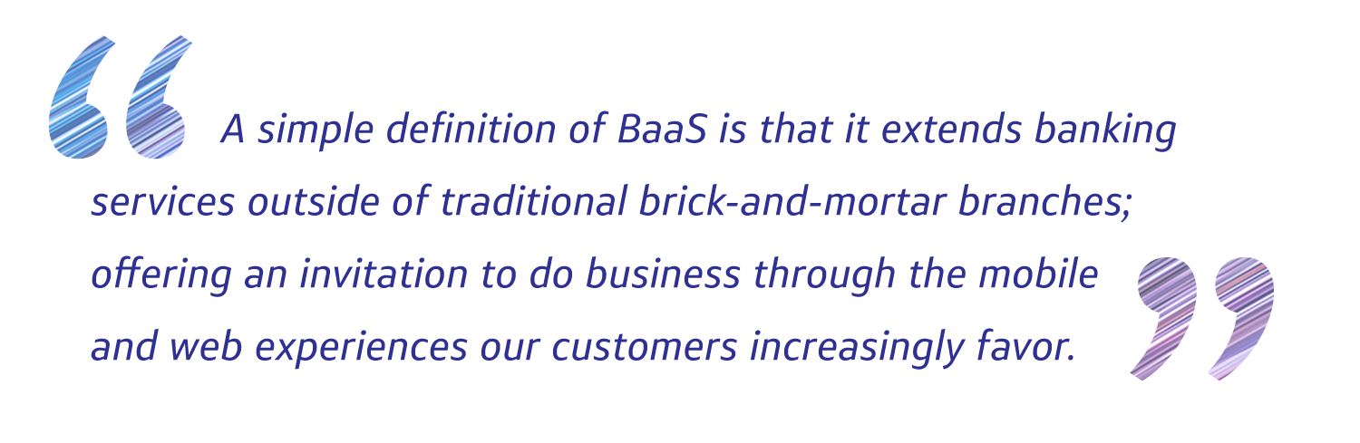 Banking as a service the next evolution of real time digital a simple definition of baas is that it extends banking services outside of traditional brick and mortar branches offering an invitation to do business stopboris Gallery