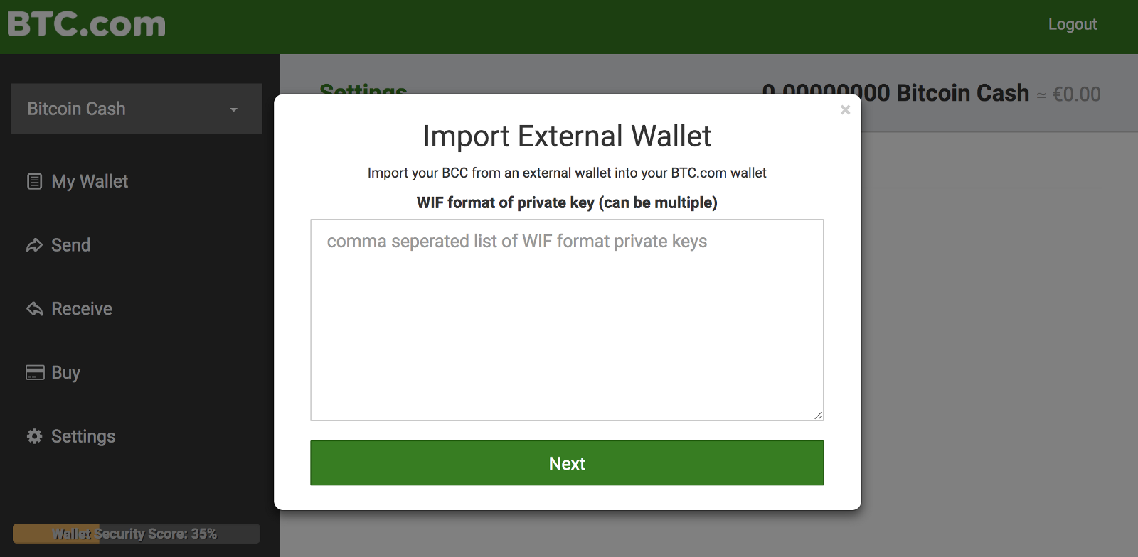 Bitcoin Cash Wallet That Supports Private Key Import How To