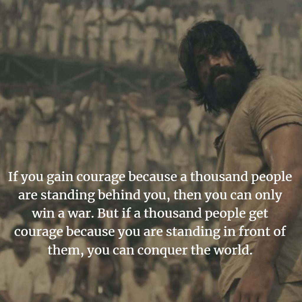KGF Chapter-1 Movie— Top 10 Quotes