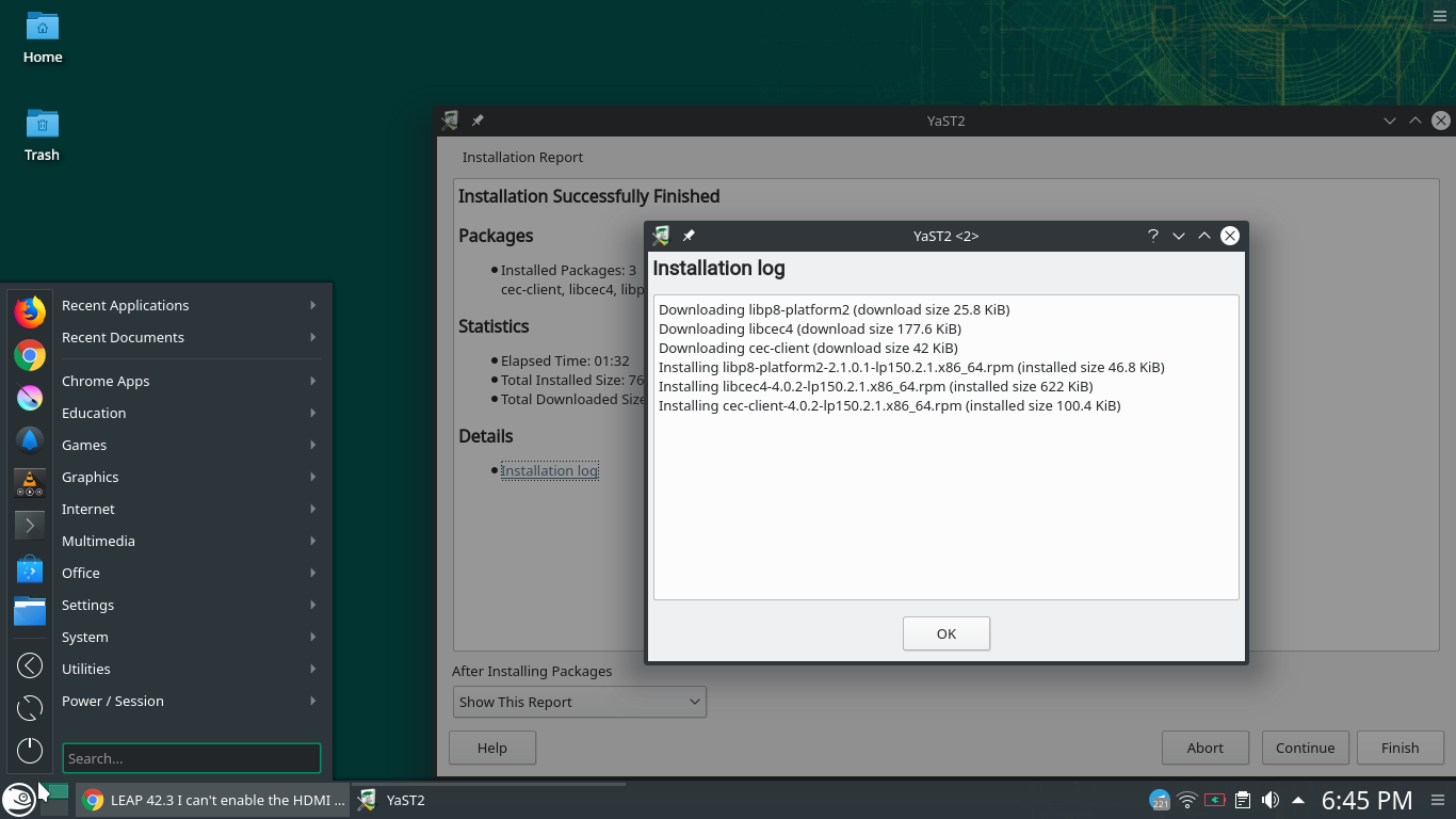 Can't use my HDMI and SDCard on OpenSuse Leap 15 – D  R