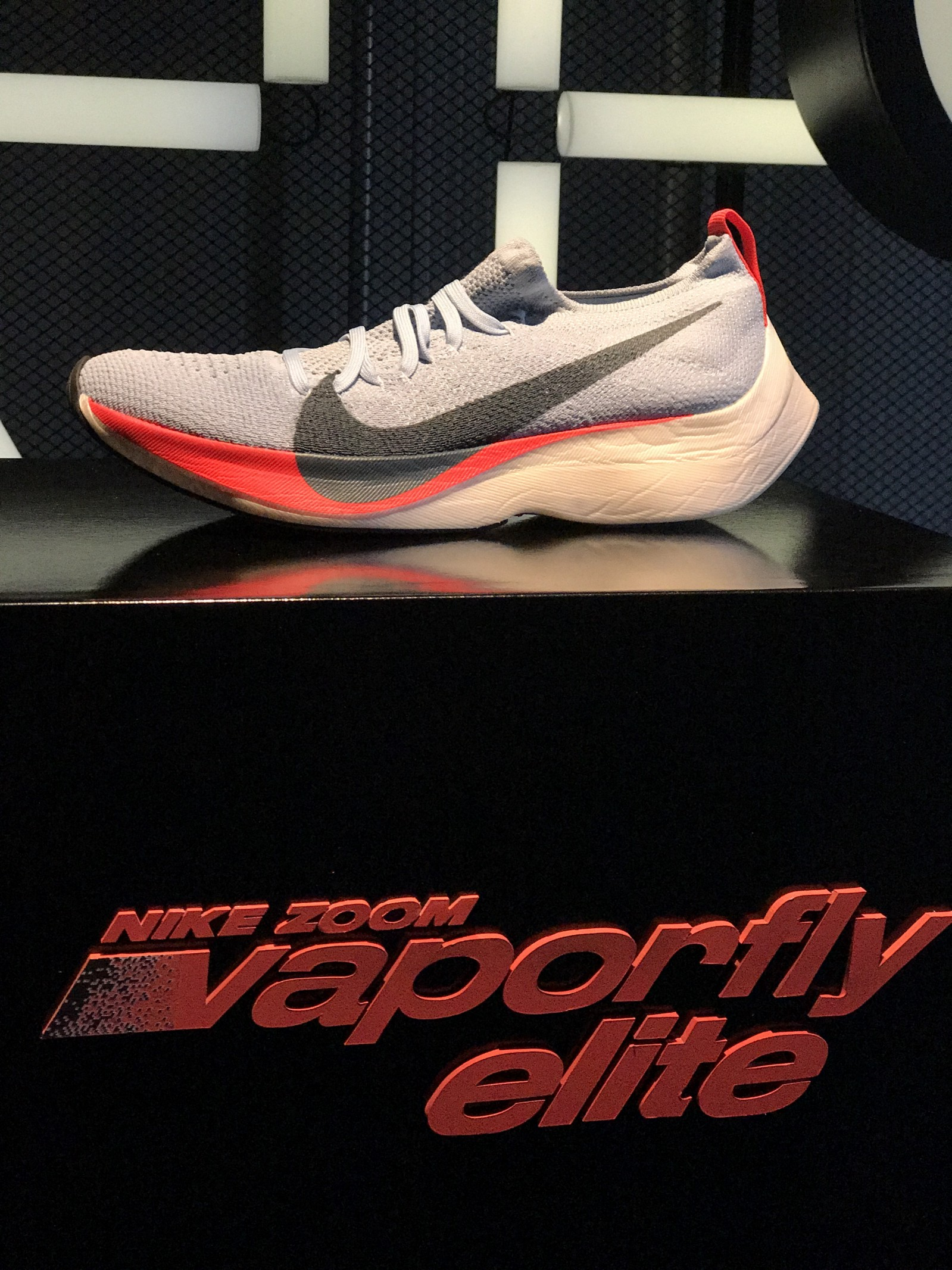 c352cec44ba0 The Nike Zoom Vaporfly Elite is what each of the three runners will compete  in. When Nike first started out to create this shoe they were too enamored  with ...