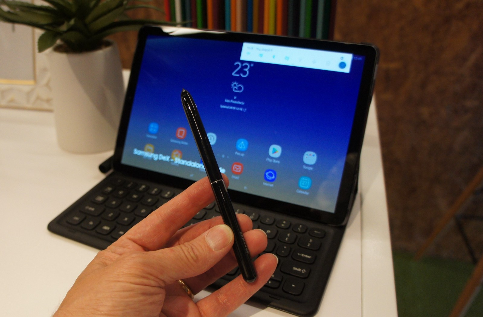 The new Samsung Galaxy Tab S4 puts Android to work