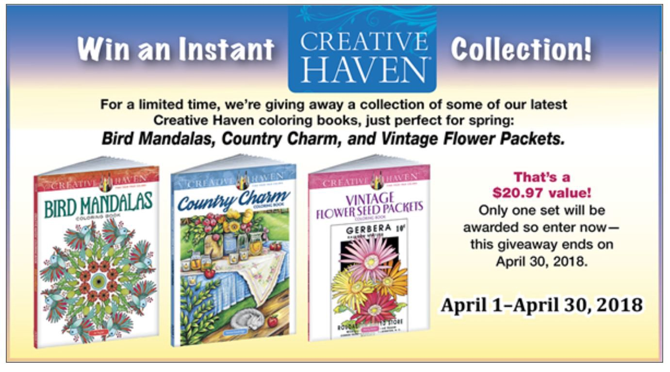 Win Free Coloring Books From Dover Doverpublications Medium