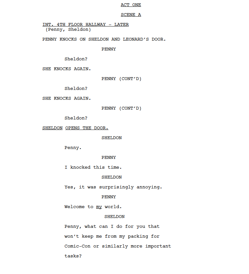 writing action sequences in screenplays to read