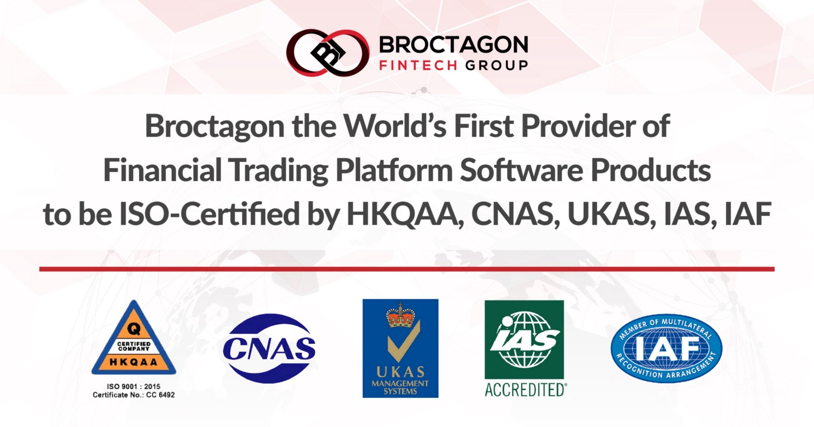 Broctagon The Worlds First Financial Solutions Provider To Achieve