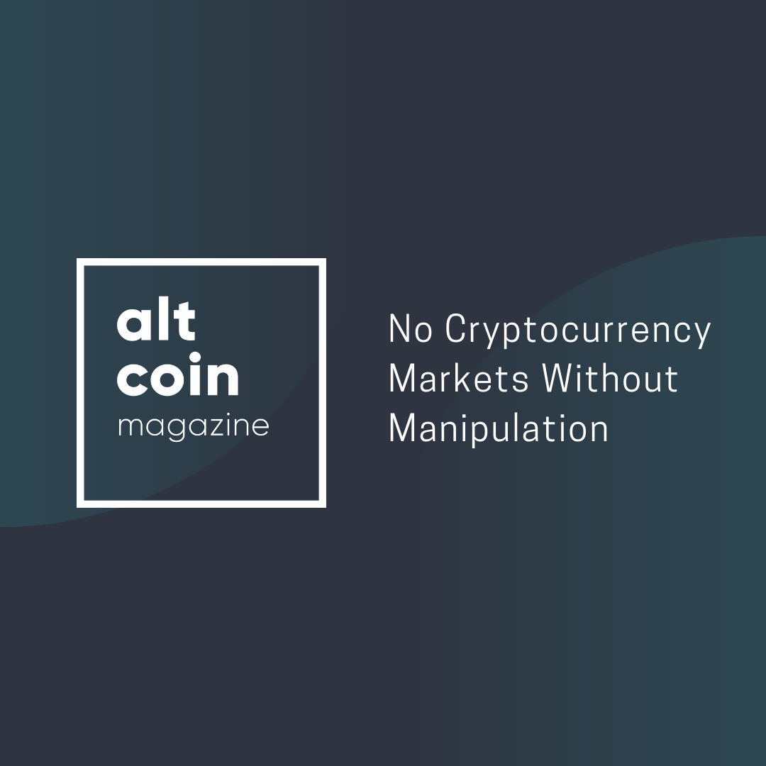 No Cryptocurrency Markets Without Manipulation