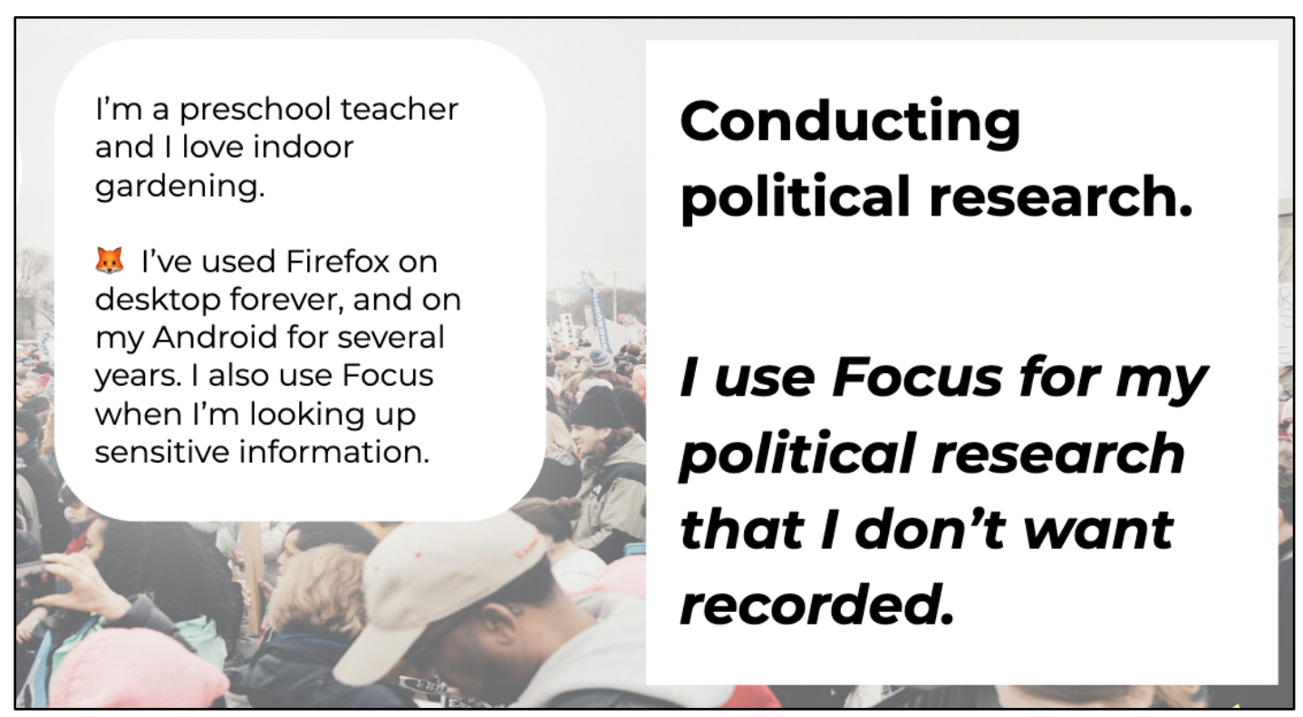 Image from one of our internal presentations where we described the scenario of a preschool teacher using Focus.