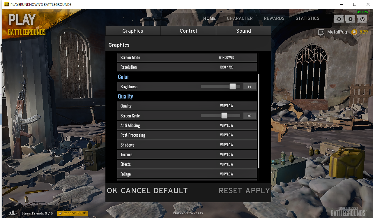 Optimize Game Settings (day 2)