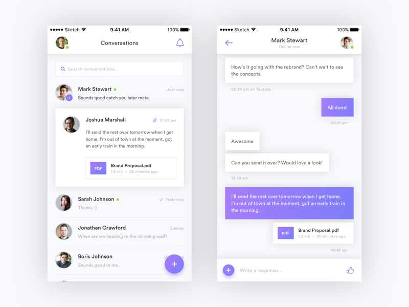 Messenger Amp Chat App Uis Inspiration Supply Medium