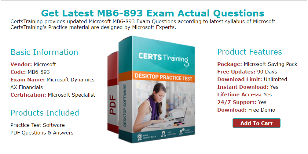 Up To Date Microsoft Dynamics Ax Mb6893 Exam Braindumps Practice