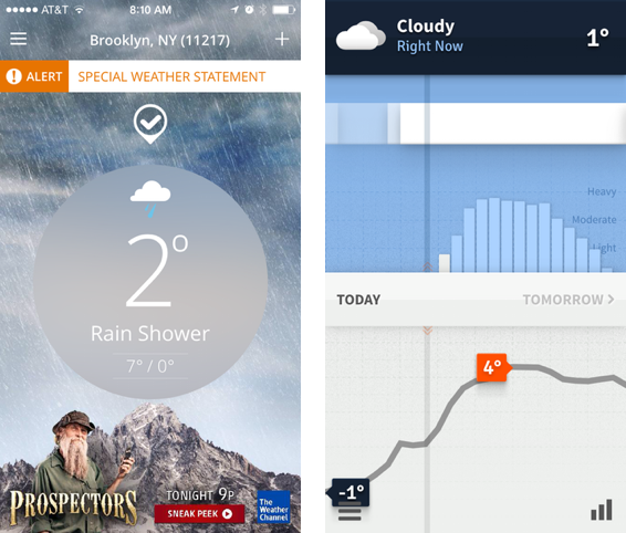 The Jobification of Weather Apps