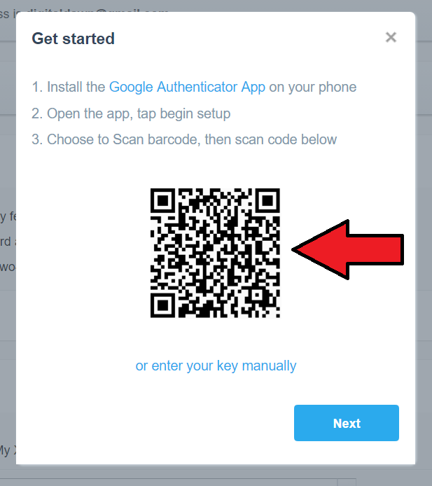 how to get barcode for google authenticator