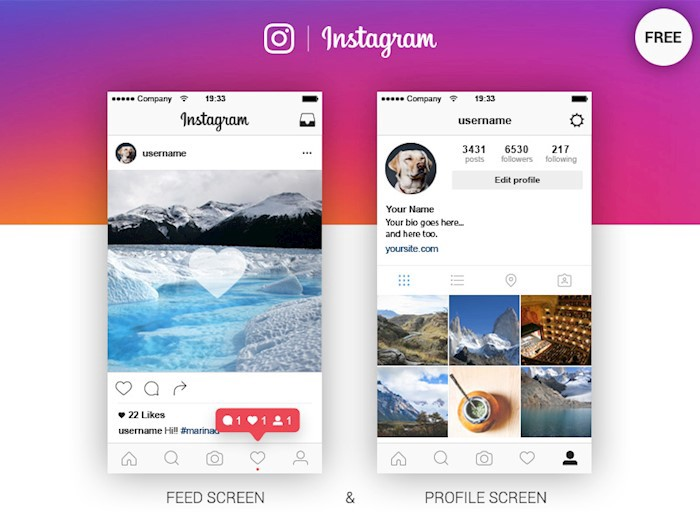 Frame Template Instagram Feed
