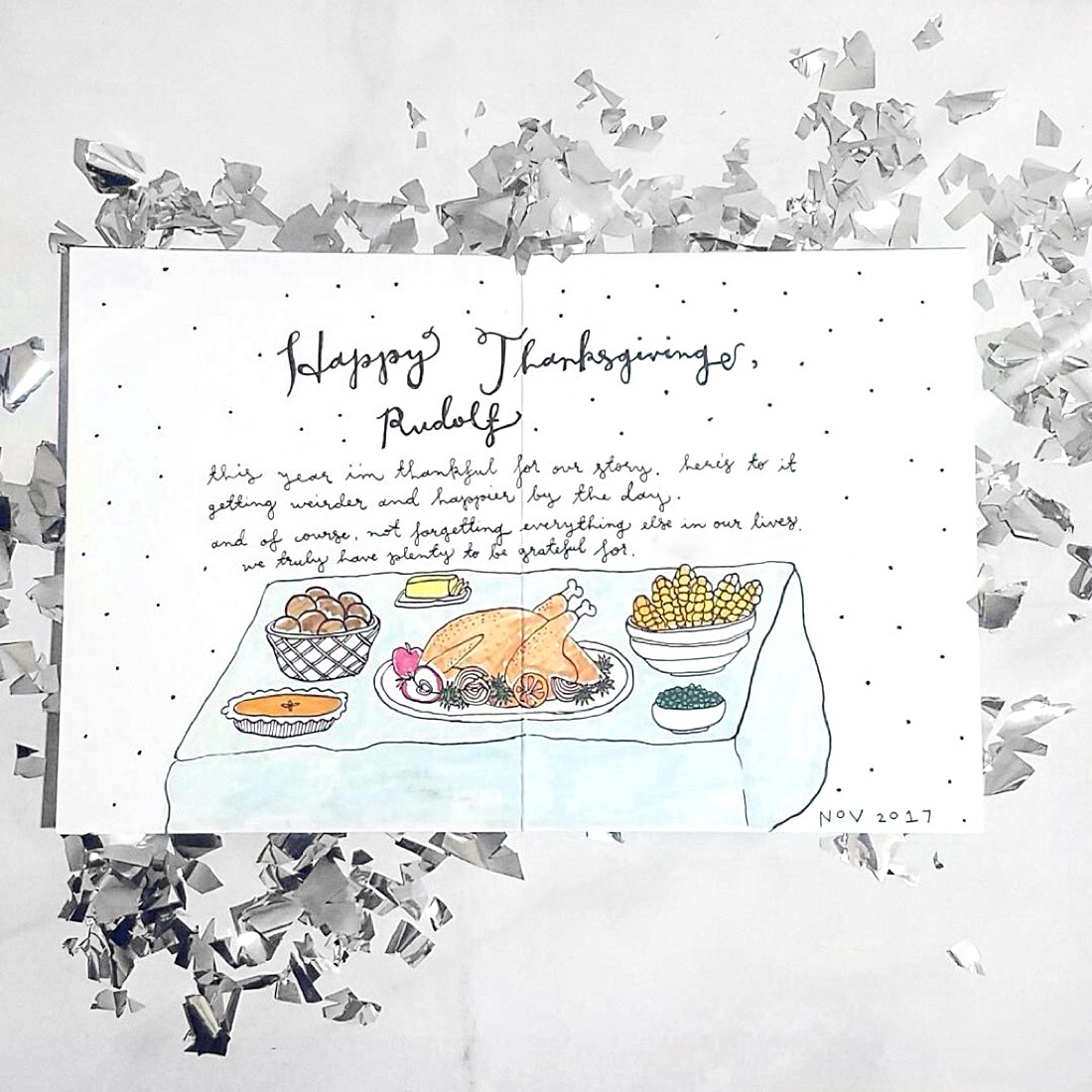 What to write in your thanksgiving cards punkpost medium to the cook we all immediately think of food and then more food when it comes to thanksgiving but who prepared all that goodness kristyandbryce Image collections
