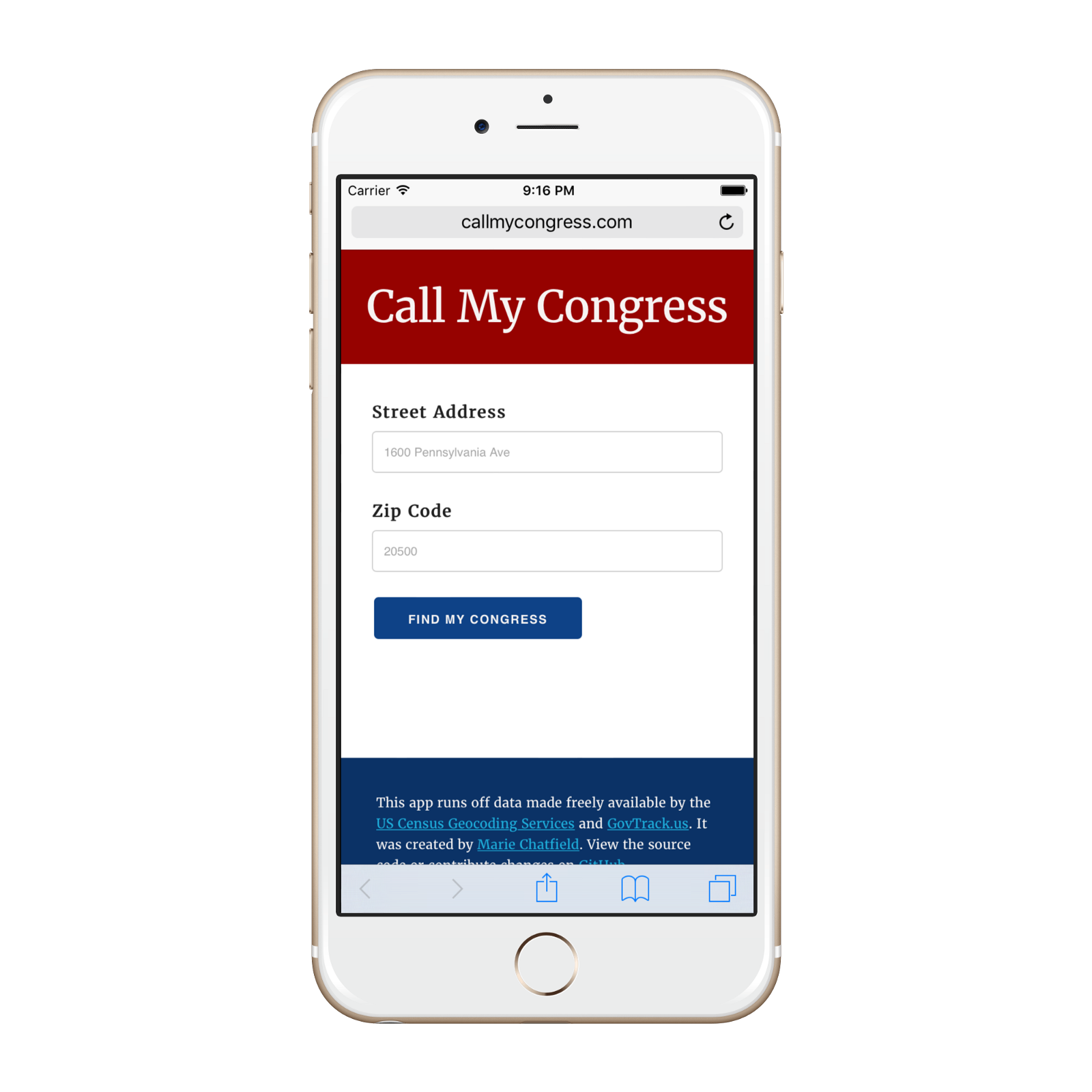 Introducing CallMyCongress a better way to reach your