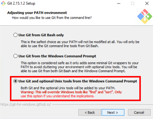 install git command prompt