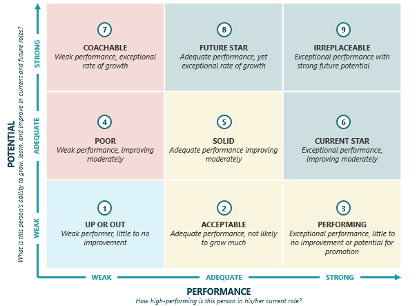 talent mapping template - using a nine box matrix to understand idea s talent pipeline