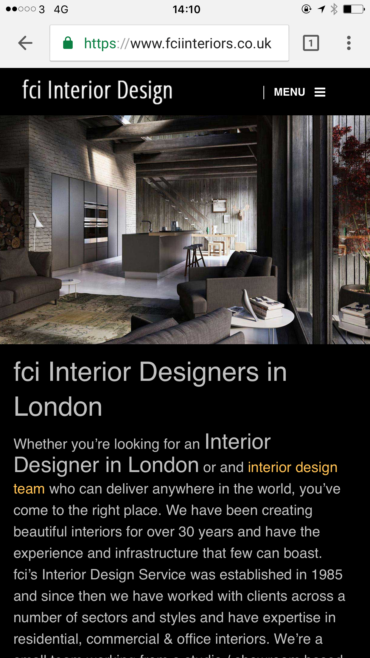 Fci interiors london s best interior design company for Top interior design companies london