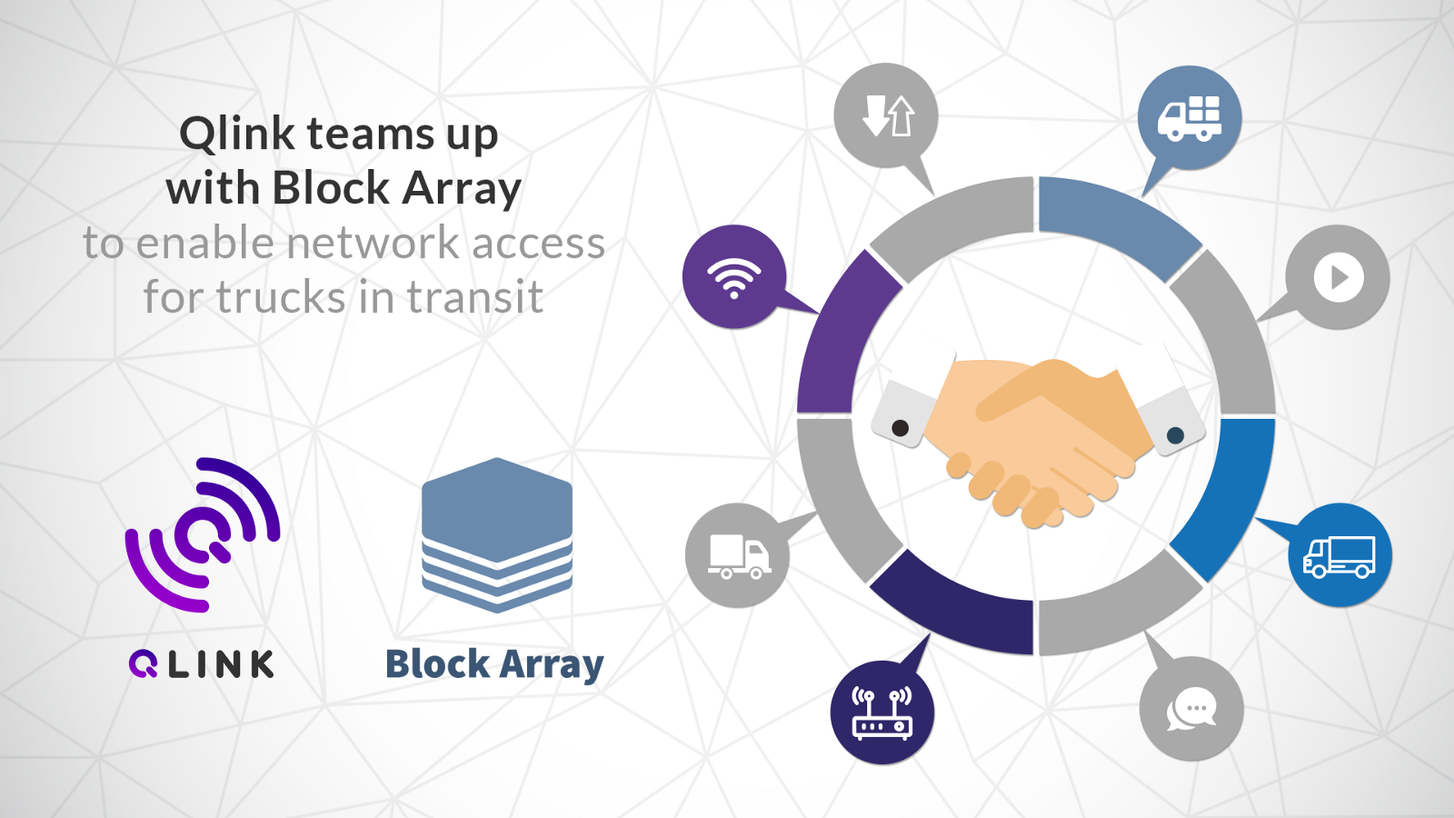 qlink teams up with block array to enable network access for trucks Qlink Legacy 250 singapore \u2014 january, 2018 \u2014 qlink and block array today announced that they have signed a memorandum of understanding (mou) to work together