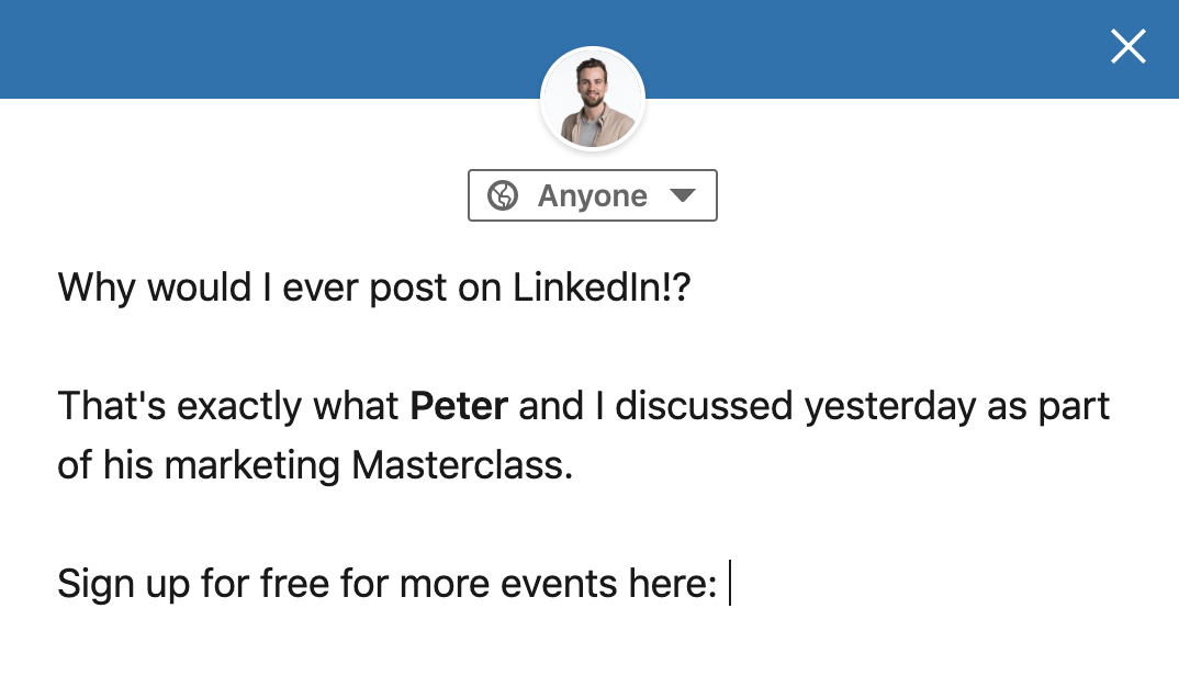 exciting linkedin post