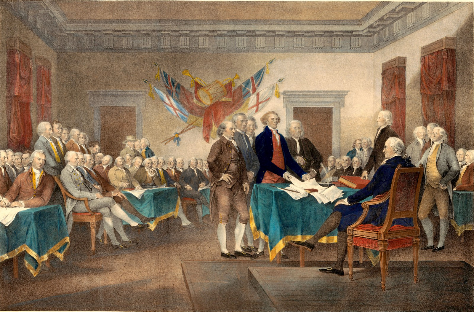 On this day in history August 2, 1776, the delegates of the second  Continental Congress sign a printed copy of the Declaration of Independence  ratified on ...