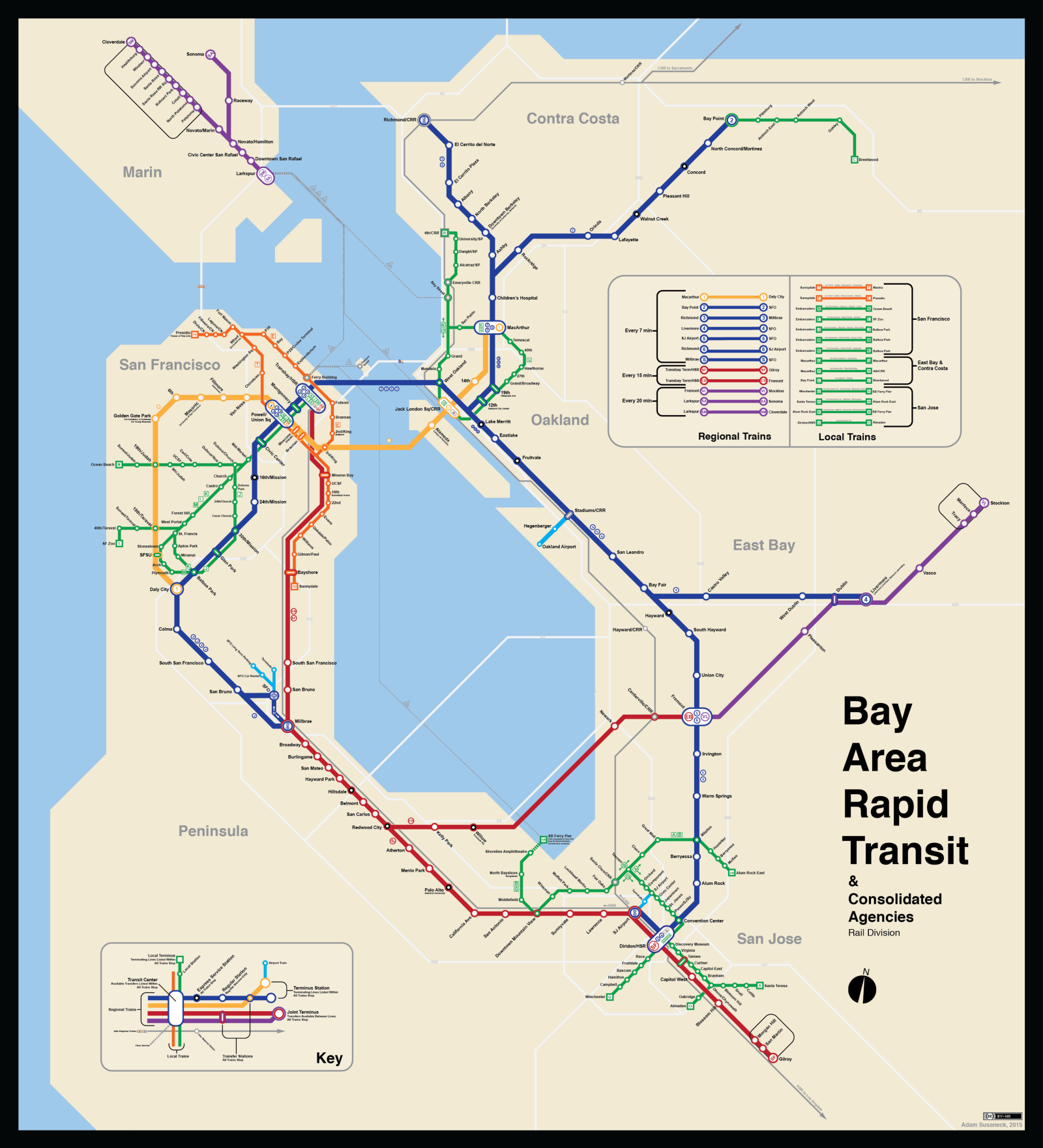 Bay Area Rapid Transit Map Bay Area Transit [Fantasy Map] : bayarea