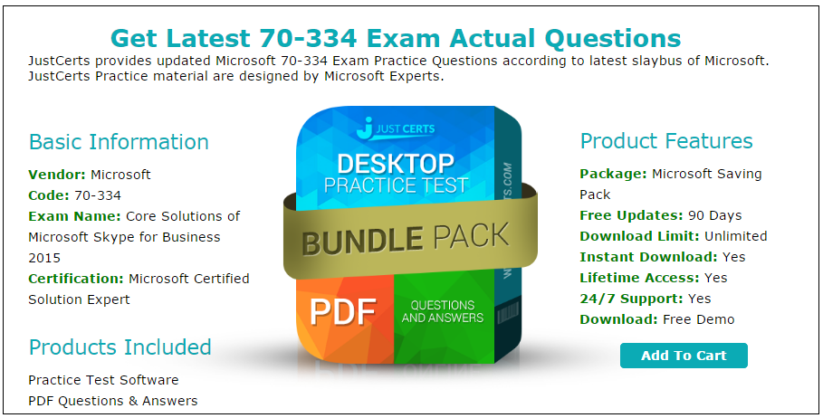 Latest 70 334 Microsoft Certified Solution Expert Exam Questions