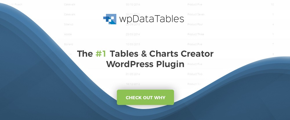 ... especially when you take the data management tasks that are often involved into account. wpDataTables makes it easy. This best-selling WordPress plugin ...