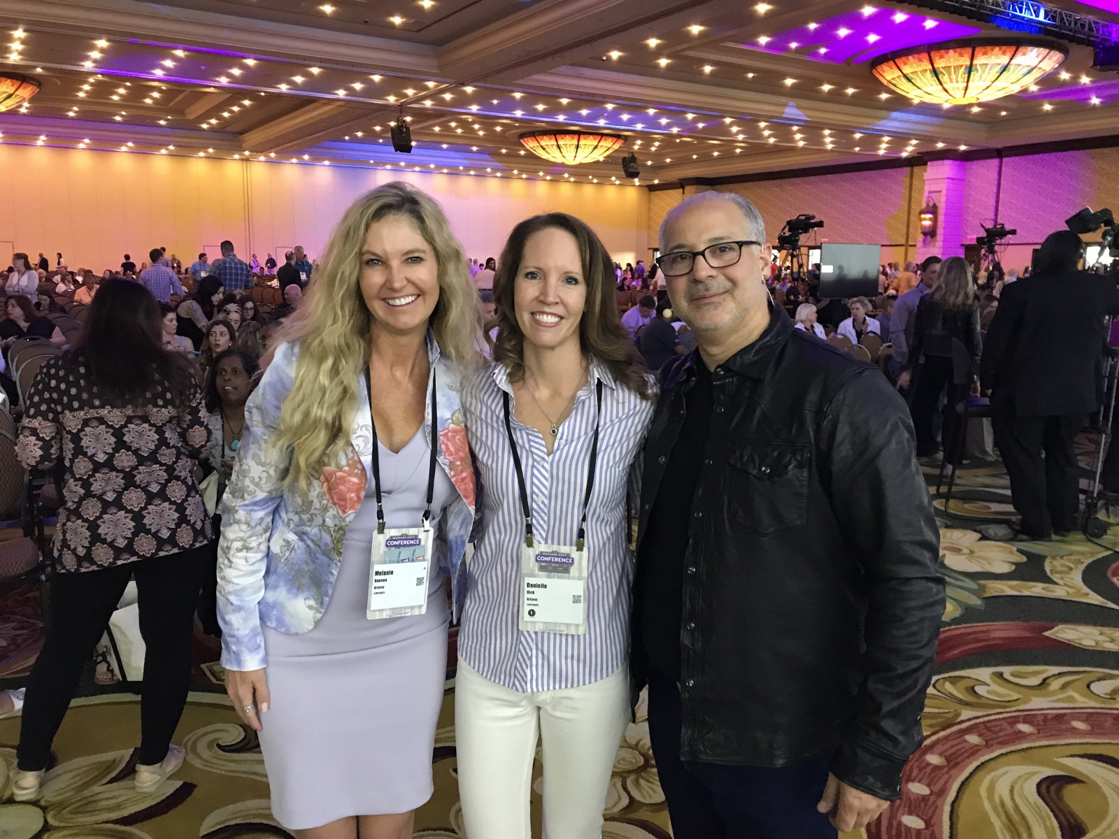 Me At The Massage Envy Convention Center With Melanie Hansen And CEO Joe Magnacca