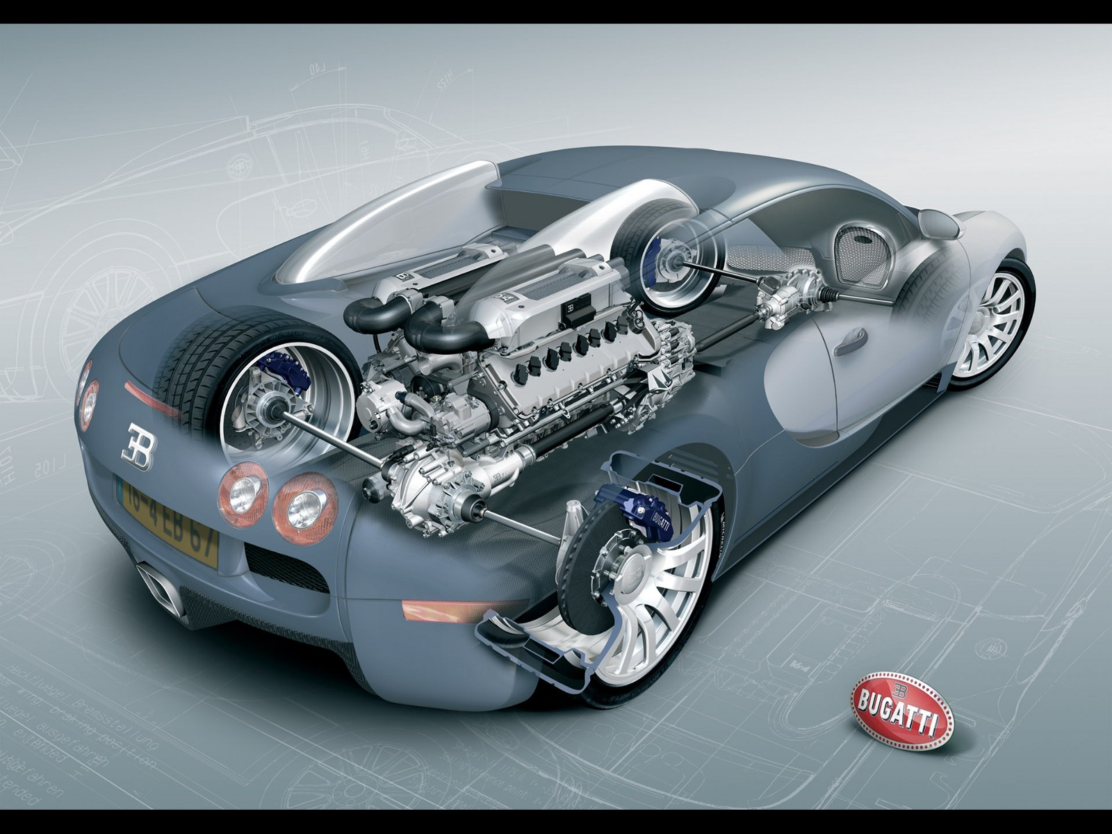What kind of engine does a bugatti have
