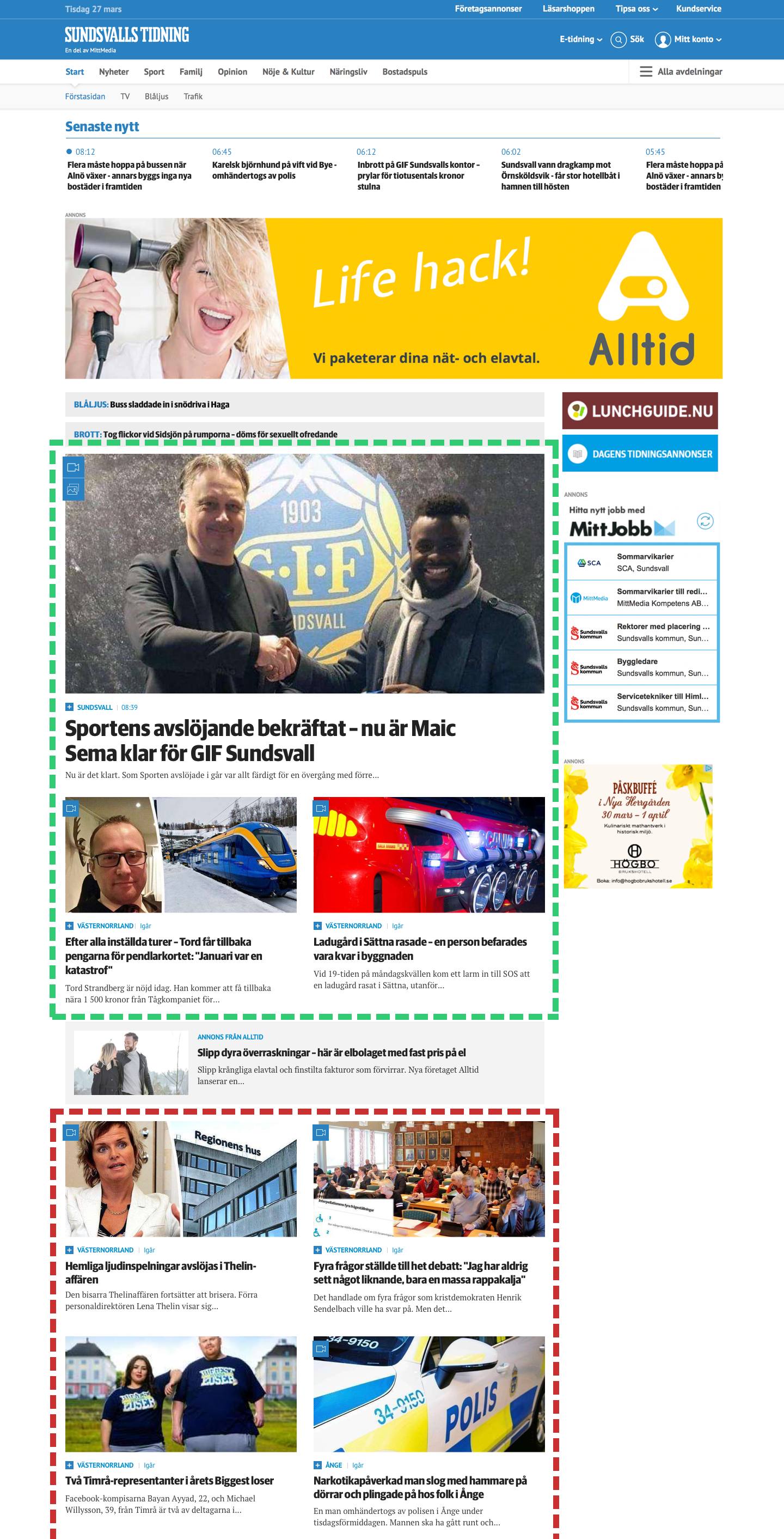 Why Mittmedia simplifies the startpage and is building a personalized newsfeed