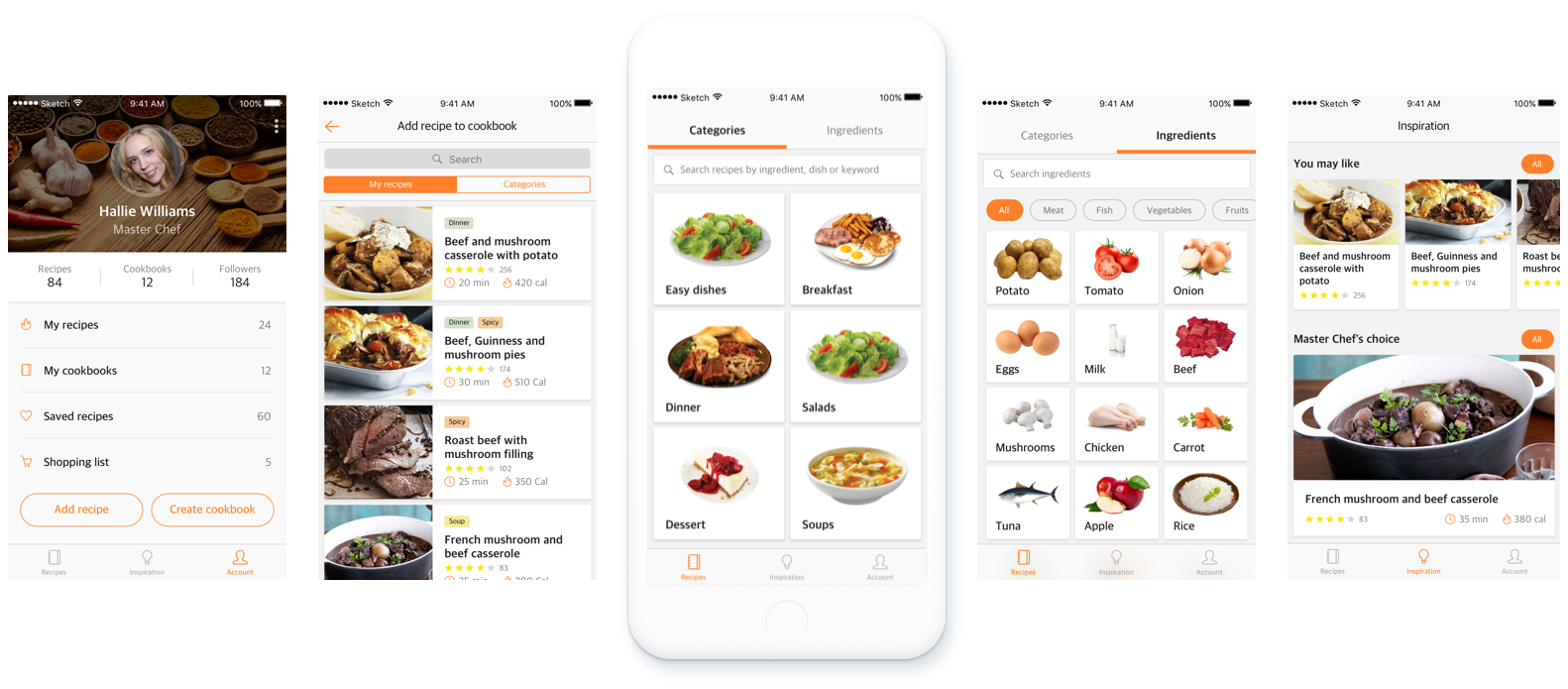 Foodmix cooking app ux case study ux planet visual part of this app i put in mind all my findings and testing results to create a light and clean ui that will not distract users from their goals forumfinder Gallery