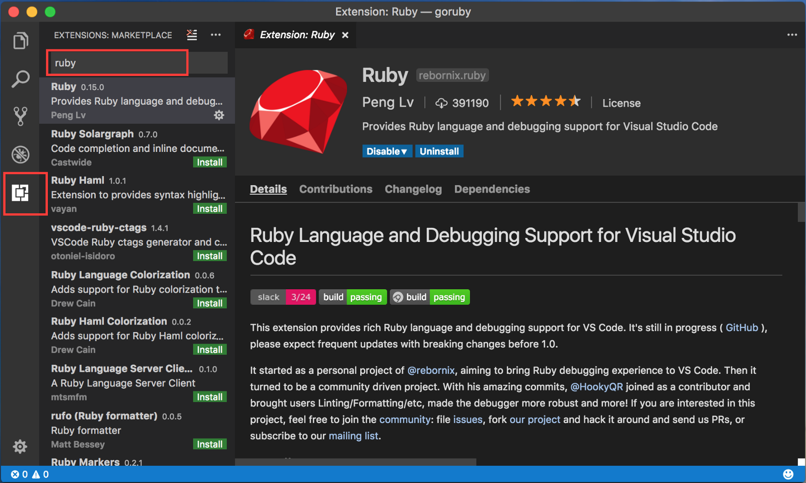 Ruby Development With Vs Code Terrence Ong Medium