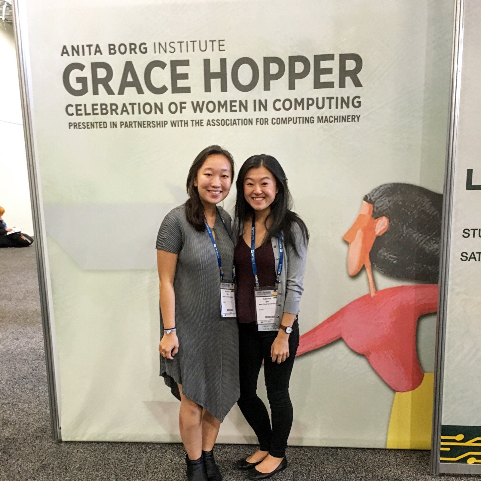 kaitlin and i both received scholarship funding to attend the conference from nyu computer science department through our involvement in the executive board - Grace Hopper Resume Database