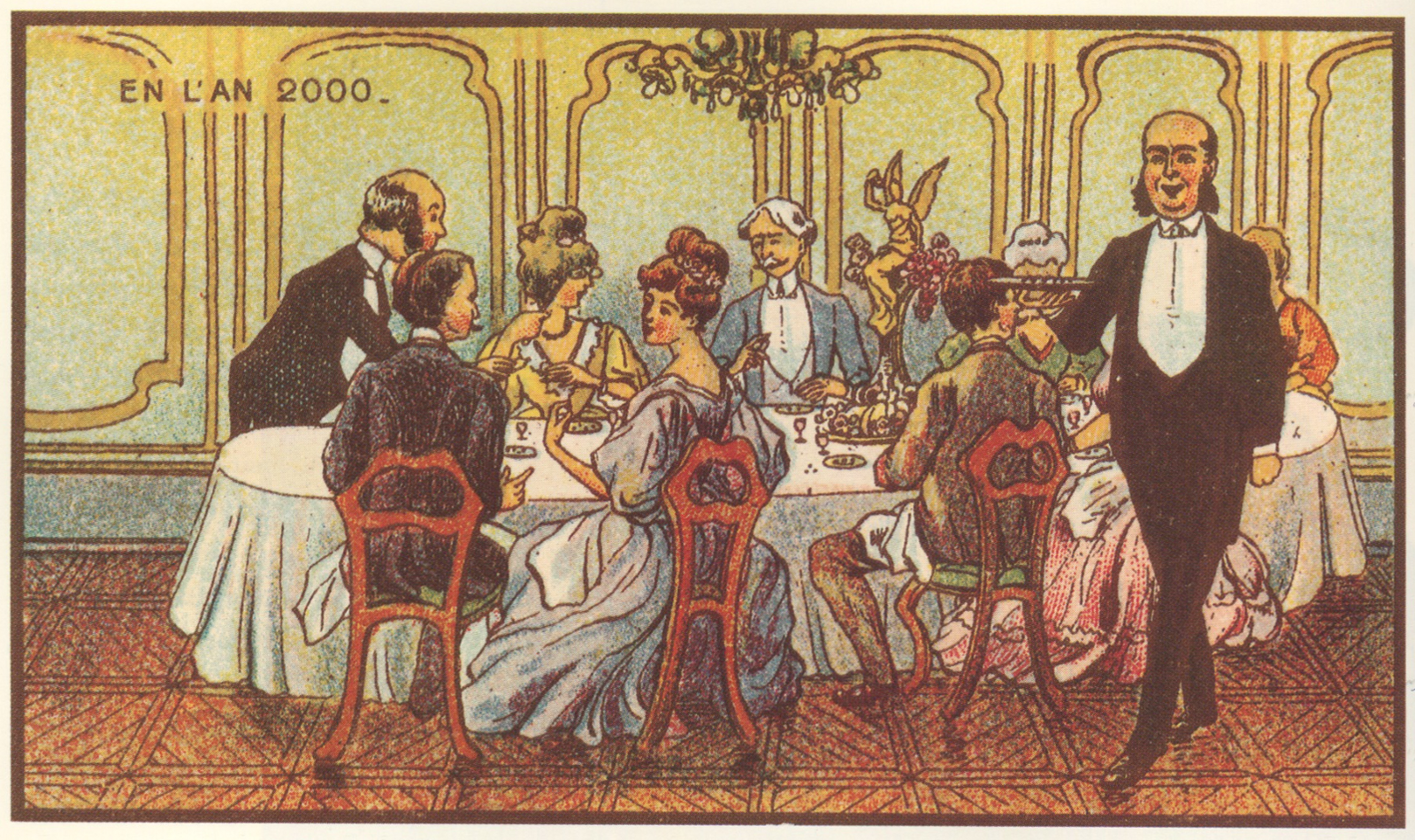 """A Chemical Dinner Party."" Jean Marc Côté, 1899."