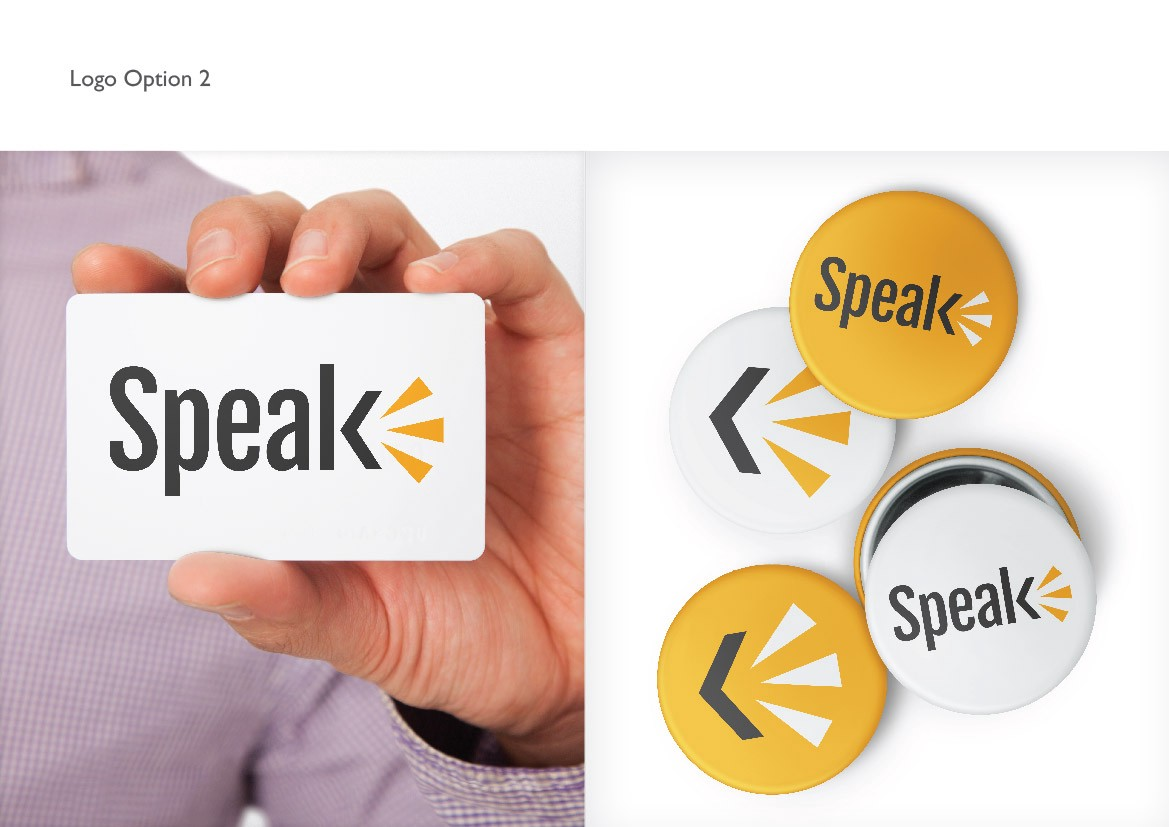 How to present logo design logo geek medium presentation of a logo i designed for speak a company who teach languages the final design after further exploration of option 1 can be seen on the buycottarizona