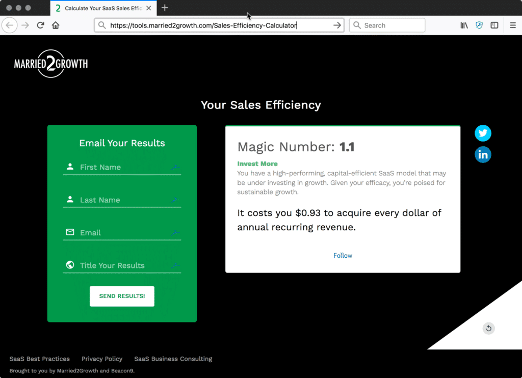 a quick way to calculate your saas sales efficiency