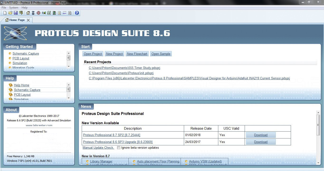 proteus professional 8.6 sp2 library